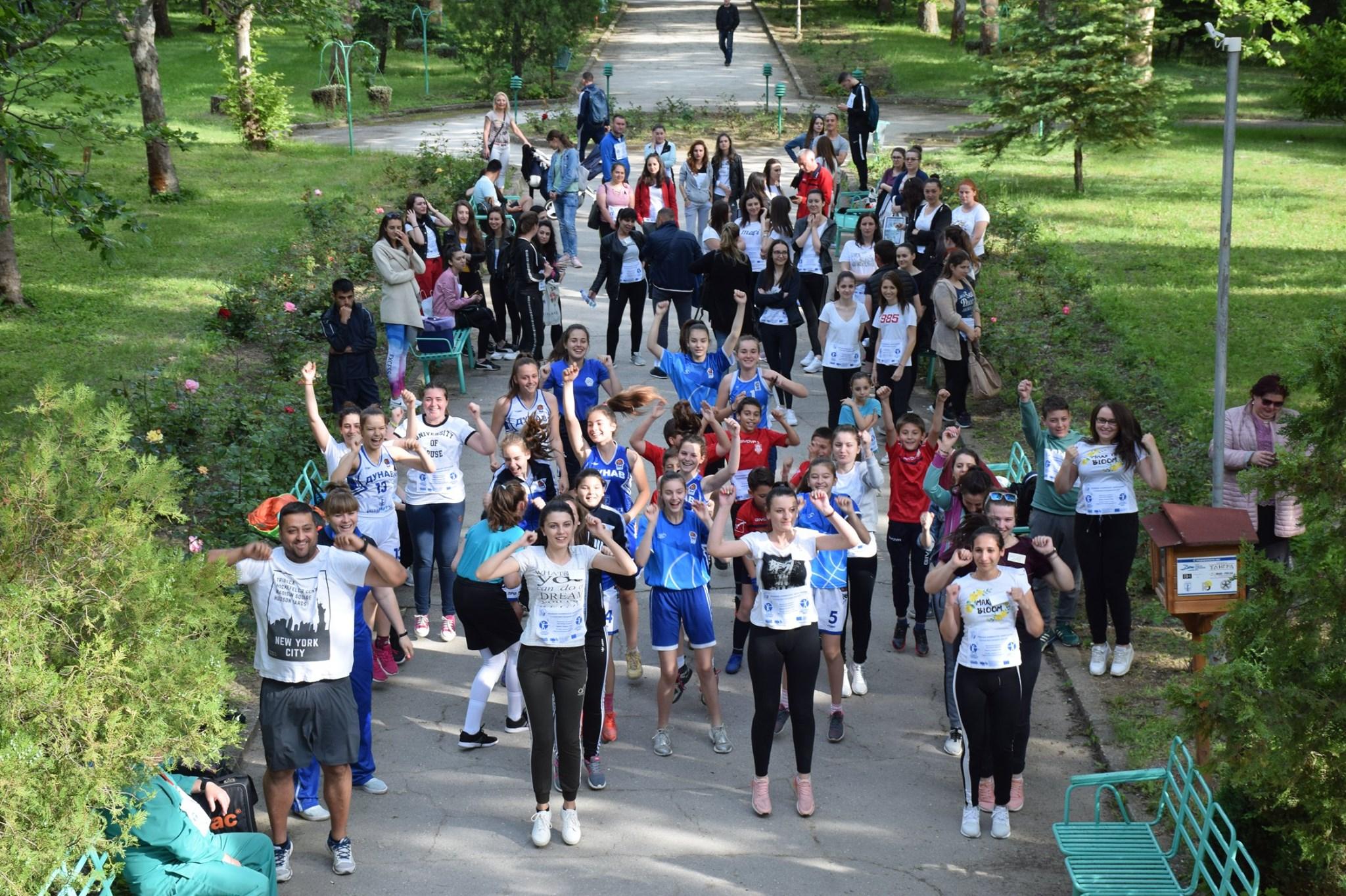 EUPHW aerobics in Ruse, Bulgaria
