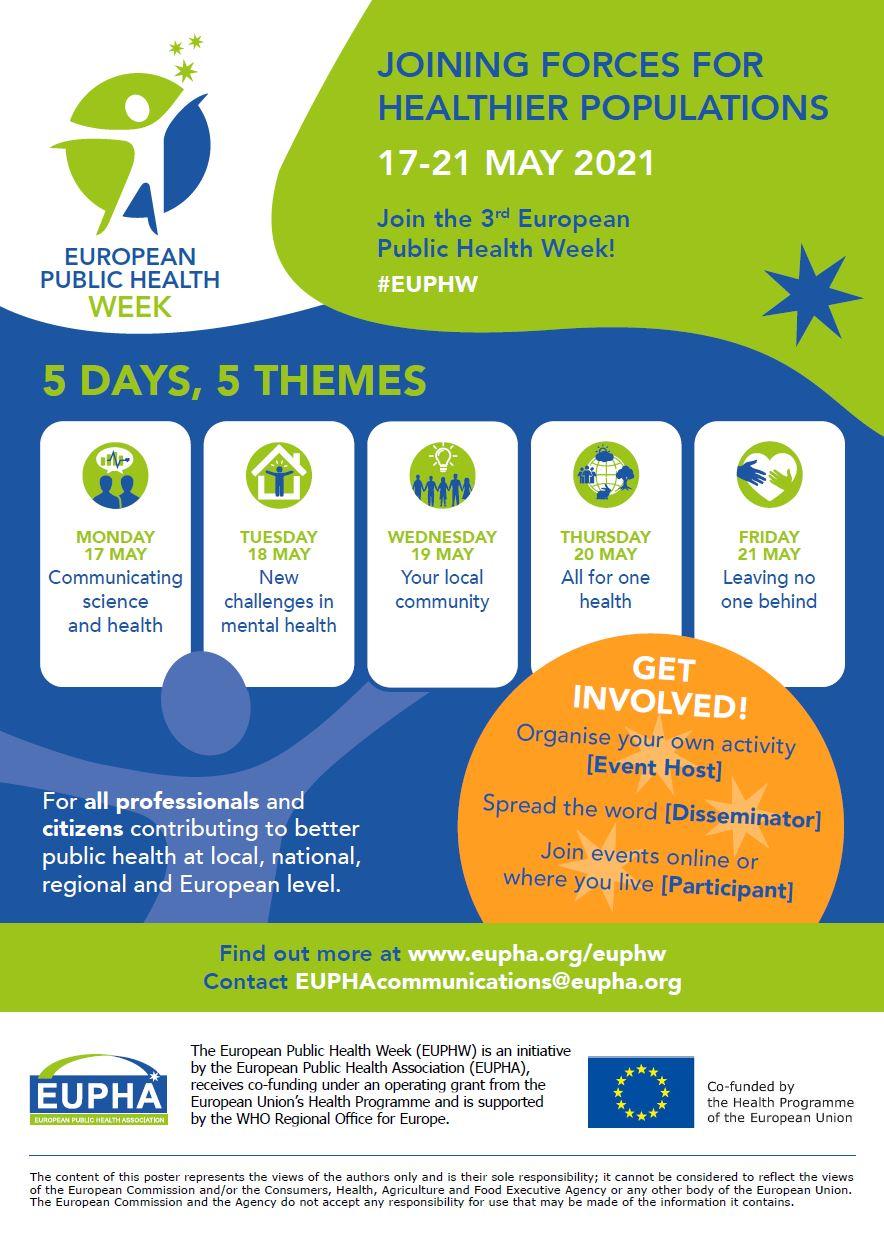 Thumbnail of the flyer that promotes the European Public Health Week