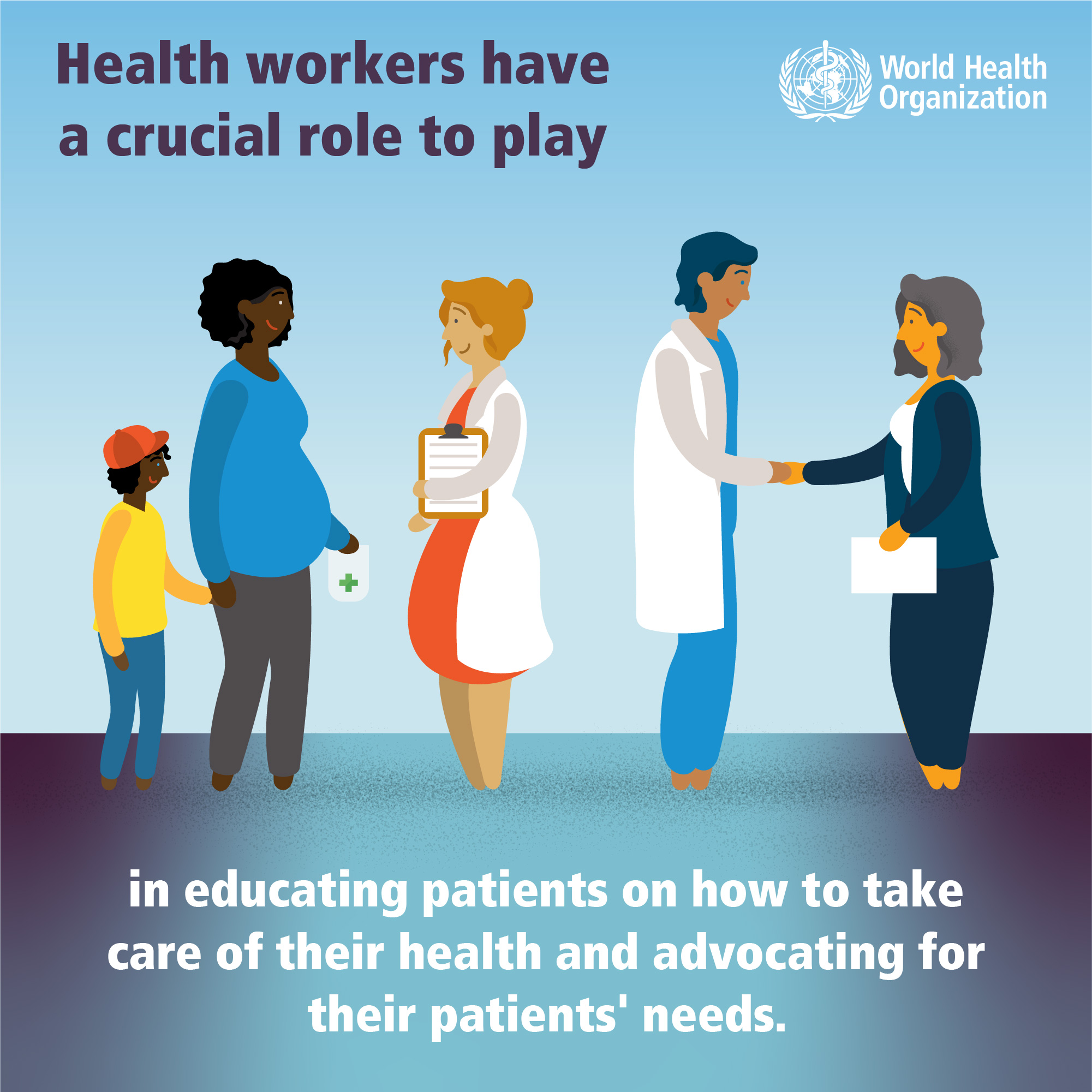 Health workers role in educating patients (Source: WHO)